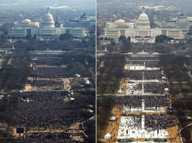 Барак Обама 2009 VS Доналд Трамп 2017