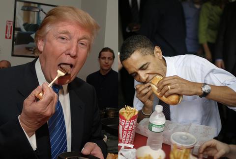 Трамп, Обама нарын хоолны зуршил