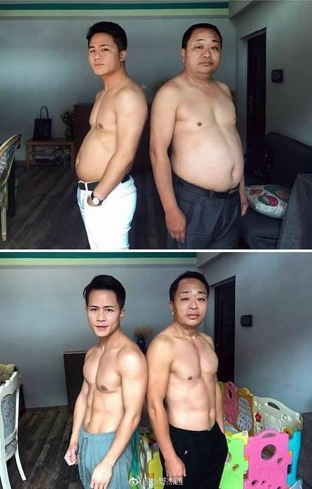 Хятад улсад нэгэн аав хүү хоёр өөрсдийгөө ингэж өөрчилжээ.../Фото/