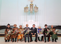 Халхын голын байлдааны ахмад дайчдаас Монгол Улсын баатар төрөв