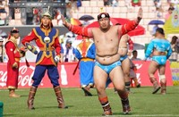 Ч.Санжаадамба: Мянган хүчтэний манлай болж Монгол бөхийн дээд цолонд хүрсэндээ баяртай байна