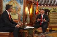 Монгол Улсын Ерөнхийлөгч Туркийн Үндэсний телевизэд ярилцлага өгөв