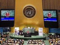 14 настай У.Номуундарь охин НҮБ-ын индрээс үг хэллээ